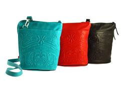 Deerskin Leather Compact Crossbody Bags
