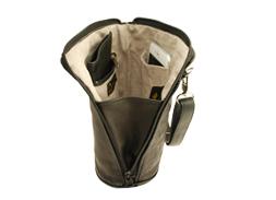 Deerskin Leather Compact Crossbody Bag