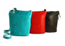 Deerskin Leather Compact Crossbody Bags