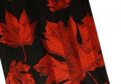 New! Silk Scarf Maple Leaf